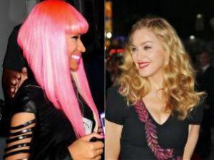 Madonna Nicki Minaj'ı dudağından öptü!