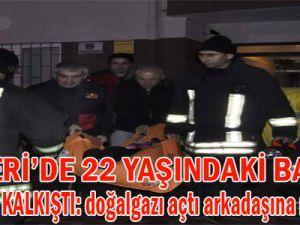 KAYSERİ'DE 22 YAŞINDAKİ KADIN İNTİHARA KALKIŞTI BİNA BOŞALTILDI