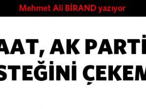 Cemaat AK Parti'den desteğini çekemez...