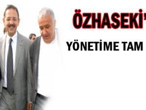 Özhaseki'den yönetime tam destek