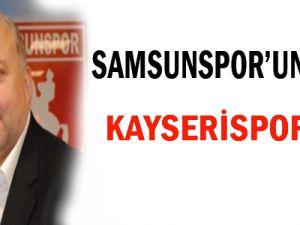 Samsunspor'un gözü Kayserispor'da