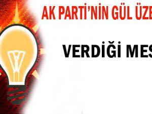 AK Parti'nin Gül üzerinden verdiği mesaj!