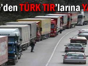 Suriye'den Türk TIR'larına Yasak