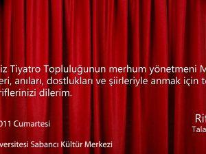 Mehmet Şafak anma programı
