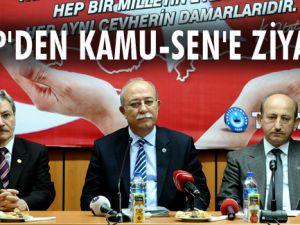 MHP'DEN KAMU-SEN'E ZİYARET
