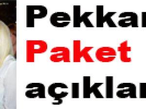 Pekkan'dan Paket açıklaması