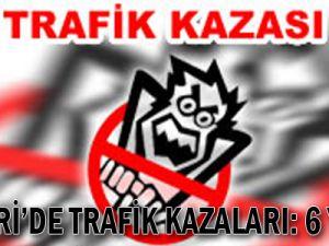Kayseri'de Trafik kazaları: 6 yaralı