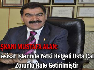 Kayseri Esnaf ve Sanatkârlar Odaları Birliği Başkanı Mustafa ALAN