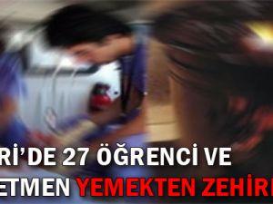 KAYSERİ'DE 27 ÖĞRENCİ VE 2 ÖĞRETMEN YEMEKTEN ZEHİRLENDİ