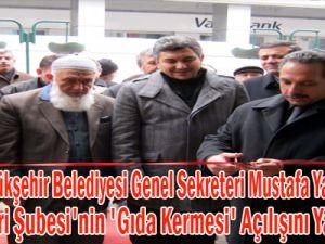Kayseri Büyükşehir Belediyesi Genel Sekreteri Mustafa Yalçın, İHH Açılışını Yaptı