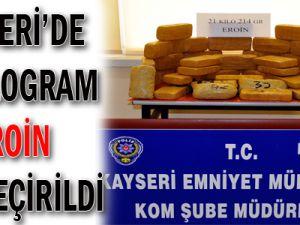 Kayseri'de 21 Kilogram Eroin Ele Geçirildi
