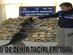 KAYSERİ'DE ZEHİR TACİRLERİ TUTUKLANDI