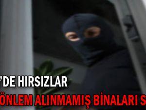 Kayseri'de Hırsızlar Yeterli Önlem Almamış Binaları Seçiyor