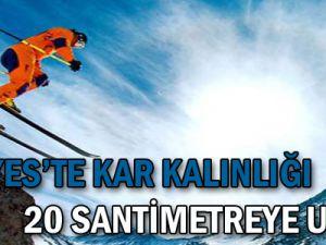 Erciyes'te Kar Kalınlığı 20 Santimetreye Ulaştı...