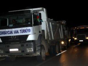 Azerbaycan'dan yeni yardım konvoyu