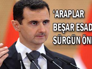 Araplar, Esad'a sürgün öneriyor