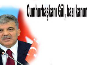Cumhurbaşkanı Gül, bazı kanunları onayladı