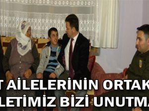 """Şehit ailelerinin ortak sesi """"Devletimiz bizi unutmaz"""""""