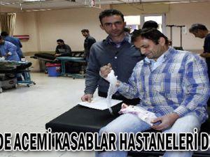 Kayseri'de Acemi Kasaplar Hastaneleri Doldurdu