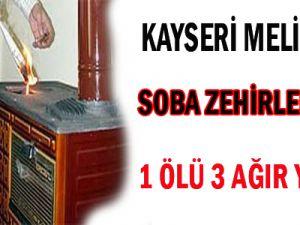 KAYSERİ'DE SOBADAN SIZAN KORBONMONOOKSİT 1.ÖLÜ 3 AĞIR YARALI