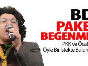 PKK ve BDP'den Paketi Tanımıyoruz Çıkışı