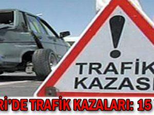 Kayseri'de Trafik Kazaları: 15 Yaralı