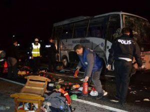 Kayseri'nin İncesu ilçesinde nişan dönüşü meydana gelen trafik kazasında 23 kişi yaralandı.