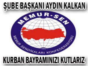 KAYSERİ MEMUR-SEN ŞUBE BAŞKANI AYDIN KALKAN