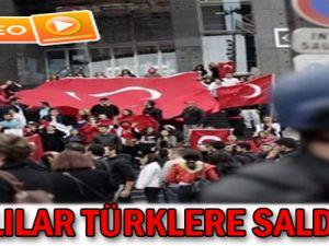 PKK'lılar Türklere saldırdı - Video