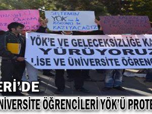 Kayseri'de Lise ve Üniversite Öğrencileri YÖK'ü Protesto Etti..!