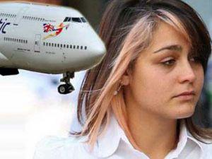 Kadın yolcudan erkek hostese cinsel saldırı