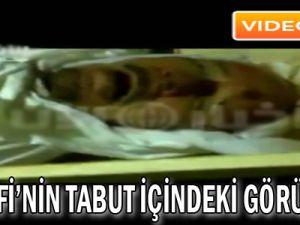 Kaddafi'nin tabut içindeki görüntüsü - Video