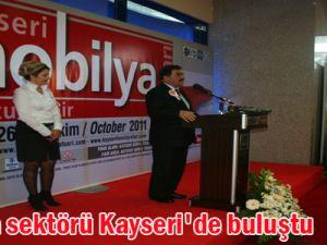 Mobilya sektörü Kayseri'de buluştu