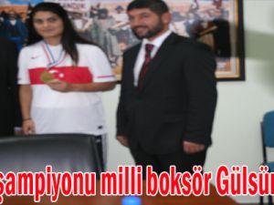 Avrupa şampiyonu milli boksör Gülsüm Tatar