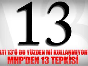 MHP'li milletvekilinden ''13'' tepkisi