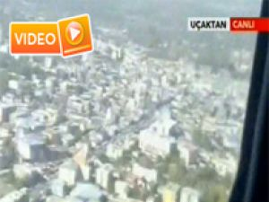 Van ilk kez havadan görüntülendi - Video