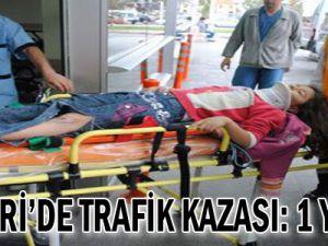 Kayseri'de Yaşanan Trafik Kazasında 1 Kişi Yaralandı...