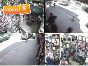 Telefon hırsızı güvenlik kamerasında - Video