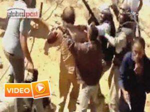 İşte Kaddafi'nin yakalanma anı - Video