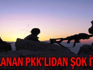 Yakalanan PKK'lıdan şok itiraf!