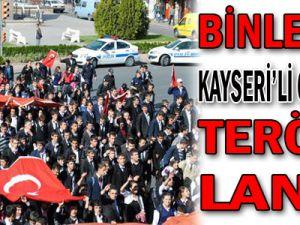 Binlerce Kayseri'li Gençten Teröre Lanet...
