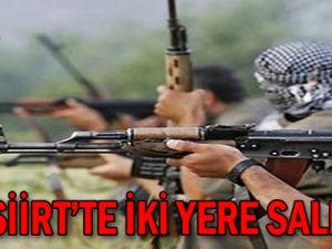 PKK Siirt'te iki yere saldırdı