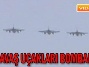 F-16 savaş uçakları bombalıyor! - Video