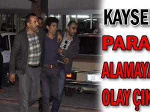 Kayseri'de Parasını Alamayan İşçi Olay Çıkardı...!