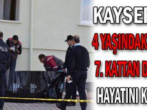 Kayseri'de 4 Yaşındaki Çocuk 7. Kattan Düşerek Hayatını Kaybetti...
