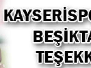 Kayserispor'dan Beşiktaş'a teşekkür