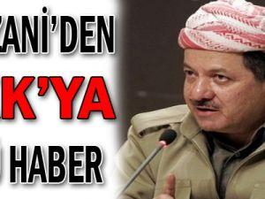 Barzani'den PKK'ya Kötü Haber