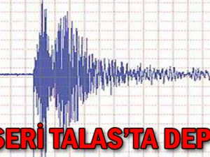 Kayseri Talas'ta Deprem...