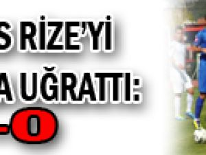 Erciyes Rize'yi bozguna uğrattı: 4-0