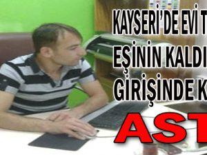 Kayseri'de Evi Terk Eden Eşinin Kaldığı Bina Girişinde Kendini Astı